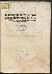 De poetarum, oratorum historicorumque ac philosophorum legendis libris