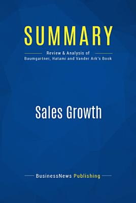 Summary  Sales Growth