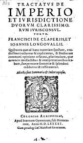 Tractatus de imperio et jurisdictione