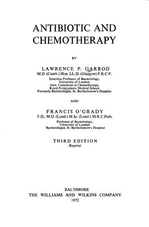 Antibiotic and Chemotherapy