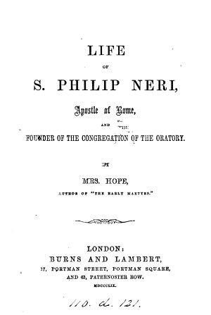 Life of s  Philip Neri