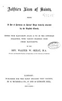 Aelfric s Lives of saints PDF