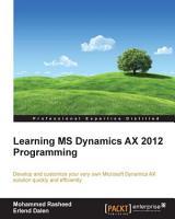 Learning MS Dynamics AX 2012 Programming PDF