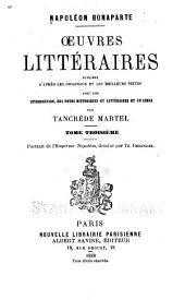 Oeuvres littéraires: Volume3
