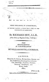 A Dissertation on Duelling: First Published, by Appointment, as Having Gained a Prize (May 1784) in the University of Cambridge