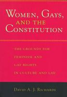Women  Gays  and the Constitution PDF