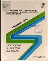 Oribadru siepa Lista de Ideas de Proyecto for Estado PDF