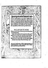 Interpretatio donati minoris scholastice: expone[n]s diffinitiones octo partiu[m]orationis cum accidentibus earunde[m]