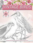 VINTAGE BIRDS Realistic Bird Coloring Book for Adults