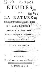 Études de la nature: Volume 1