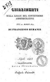 Chiarimenti sulla legge del contenzioso amministrativo del 21 marzo 1817 di Francesco Echaniz
