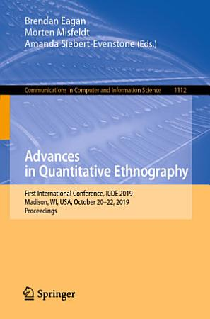 Advances in Quantitative Ethnography PDF