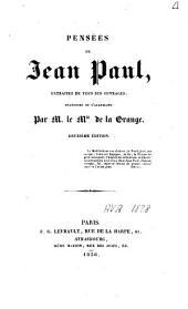 Pensées de Jean Paul: extraites de tous ses ouvrages