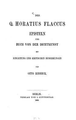 Episteln und Buch von der Dichtkunst PDF