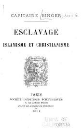Esclavage, islamisme et christianisme
