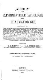 Archiv fuer experimentelle pathologie und pharmakologie: Volume 22