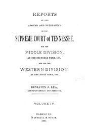 Reports of Cases Argued and Determined in the Supreme Court of Tennessee: Volume 72