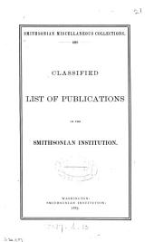Classified list of publications of the Smithsonian institution