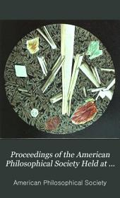 Proceedings of the American Philosophical Society Held at Philadelphia for Promoting Useful Knowledge: Volume 18