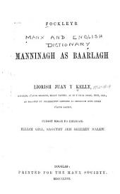 Fockleyr Manninagh as Baarlagh: Volume 1