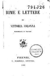 Rime e lettere di Vittoria Colonna