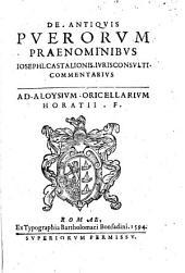 De antiquis puerorum praenominibus ... commentarius