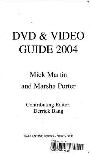 DVD   Video Guide 2004 PDF