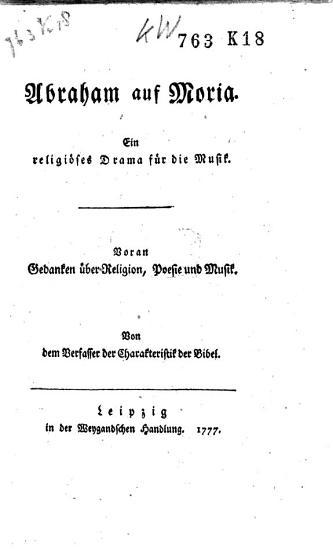 Abraham auf Moria PDF