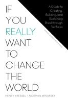 If You Really Want to Change the World PDF