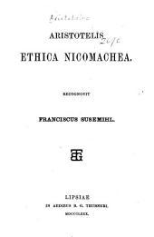 Aristotelis Ethica Nicomachea,