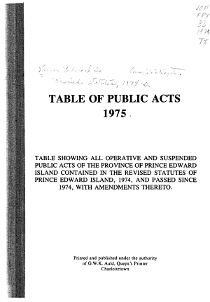 Table of Public Acts  1975 PDF