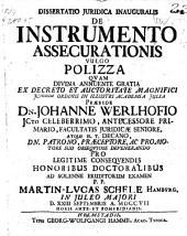De instrumento assecurationis vulgo polizza. 23 Sept. 1707