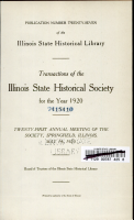 Transactions of the Illinois State Historical Society PDF