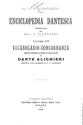 Enciclopedia Dantesca: dizionario critico e ragionato di quanto concerne la vita e le opere di Dante Alighieri, Volume 3