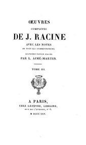 Oeuvres complètes de J. Racine: Mithridate. Iphigénie en Aulide. Phèdre