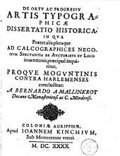 De ortu et progressu artis typographicae dissertatio historica