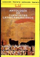 Antolog  a de cuentistas latinoamericanos PDF