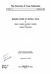 Building Stones of Central Texas PDF