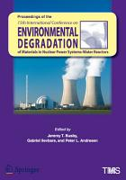 Proceedings of the 15th International Conference on Environmental Degradation of Materials in Nuclear Power Systems   Water Reactors PDF