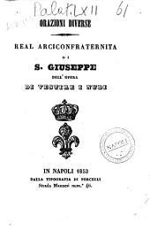 Orazioni diverse Real Arciconfraternita di S. Giuseppe dell'opera di vestire i nudi