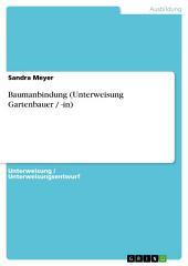 Baumanbindung (Unterweisung Gartenbauer / -in)