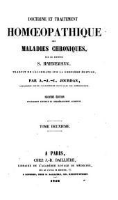 Doctrine et traitement homoeopathique des maladies chroniques: Volume2