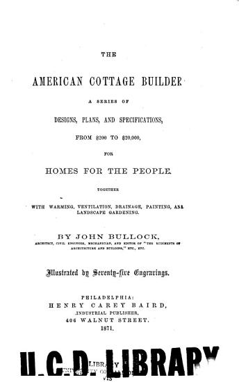 The American Cottage Builder PDF