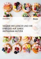 Vegane Influencer und ihr Einfluss auf junge Instagram Nutzer PDF