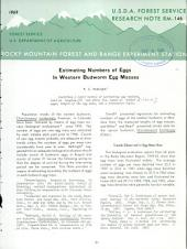 Estimating numbers of eggs in western budworm egg masses
