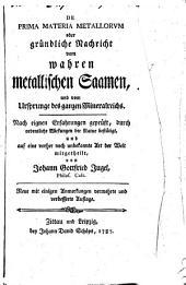 De prima materia metallorum