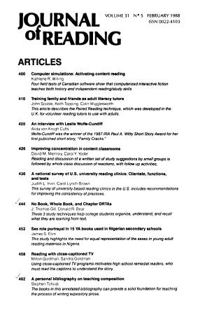 Journal of Reading PDF