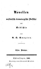 Novellen, musikalisch-dramaturgische Aufsätze und Gedichte: Band 1