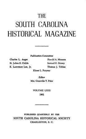 South Carolina Historical Magazine PDF
