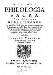 Philologia Sacra: Volume 1